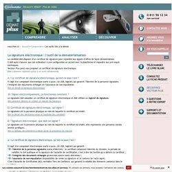Les outils liés à la dématérialisation : signer électroniquement