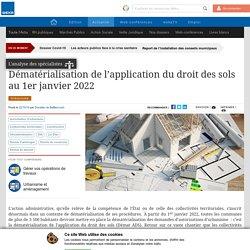 Dématérialisation de l'application du droit des sols au 1er janvier 2022. Donatien de Bailliencourt. Weka. www.weka.fr