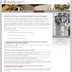 1. Dematerialisation de documents comptables : legislation, conservation et solutions