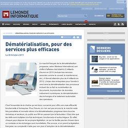 Dématérialisation, pour des services plus efficaces -