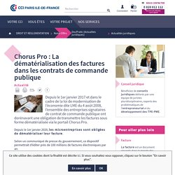 Chorus Pro : La dématérialisation des factures dans les contrats de commande publique