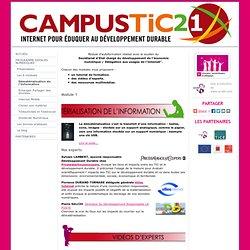 Dématérialisation de l'Information - campustic21
