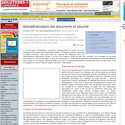 Dématérialisation des documents et sécurité