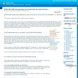 ETAP-ON-LINE dematérialise les justificatifs de notes de frais ... - ARCHIVES - indice RH - Actualités RH