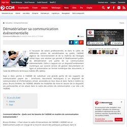 Dématérialiser sa communication événementielle
