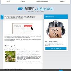 Pourquoi je dois dématérialiser mes factures ? - Veille technologique et technique par l'agence de développement web iMDEO