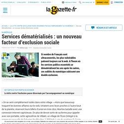 Services dématérialisés : un nouveau facteur d'exclusion sociale