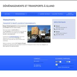 Berger Déménagements - Administration - Transports - Gland