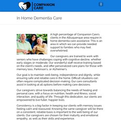 Give your Loved Ones the Best In Home Dementia Care