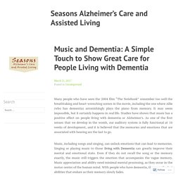 Music and Dementia: A Simple Touch to Show Great Care for People Living with Dementia