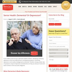Dementia or Depression? Could it Be Both?