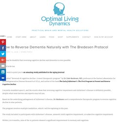 How to Reverse Dementia Naturally with The Bredesen Protocol — Optimal Living Dynamics