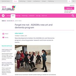 Forget me not - AGNSWs new art and dementia program