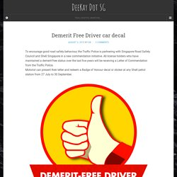 Driver Car Decal – Fixed Interval Positive Reinforcement