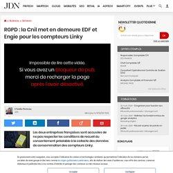 RGPD: la Cnil met en demeure EDF et Engie pour les compteurs Linky