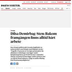 Dilsa Demirbag–Sten: Bakom framgången finns alltid hårt arbete