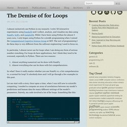 The Demise of for Loops - Jessica Hamrick