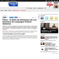 Fillon : la lettre de démission de son directeur de campagne Patrick Stefanini