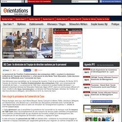 IAE Caen : la démission de l'équipe de direction soutenue par le personnel - Publié le Lundi 09 Mars 2015