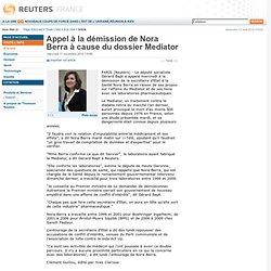 Appel à la démission de Nora Berra à cause du dossier Mediator