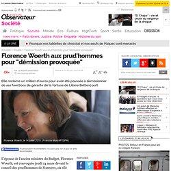 """Florence Woerth aux prud'hommes pour """"démission provoquée"""""""