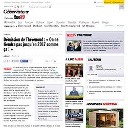 Démission de Thévenoud: «On ne tiendra pas jusqu'en 2017comme ça!»