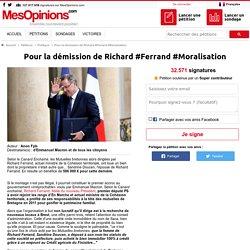 Pour la démission de Richard #Ferrand #Moralisation