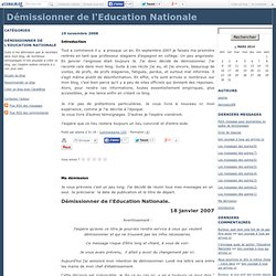 Démissionner de l'Education Nationale