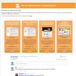 CMS Made Simple France - Démonstration de CmsMadeSimple