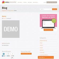 demo - easygenerator