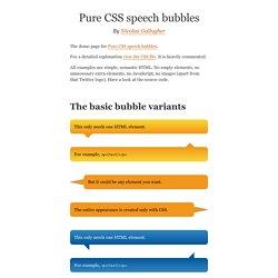 Demo: Pure CSS speech bubbles