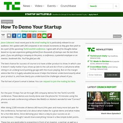 How To Demo Your Startup