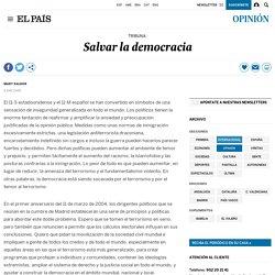 Salvar la democracia