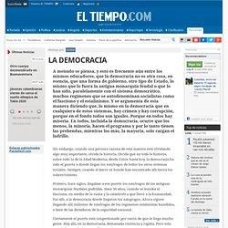 LA DEMOCRACIA - Archivo - Archivo Digital de Noticias de Colombia y el Mundo desde 1.990 - eltiempo.com