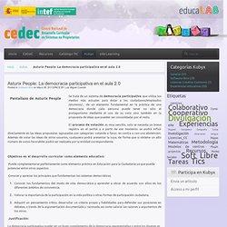 Asturix People: La democracia participativa en el aula 2.0