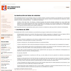 Otra Democracia Es Posible - Main - DestruccionListasVotantes01 - otradem.net
