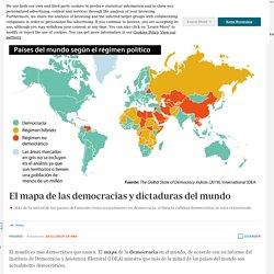 El mapa de las democracias y dictaduras del mundo