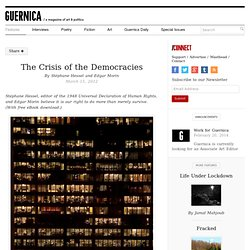 The Crisis of the Democracies by Stéphane Hessel and Edgar Morin
