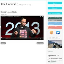 Democracy | Special Reports | The Browser