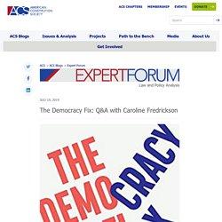 The Democracy Fix: Q&A with Caroline Fredrickson