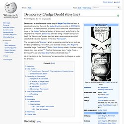 Democracy (Judge Dredd storyline)