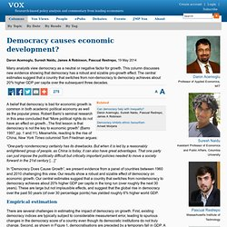 Democracy and growth: New evidence