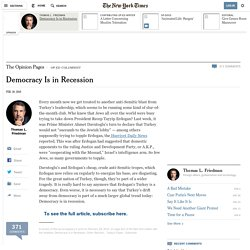 Democracy Is in Recession