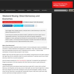 Weekend Musing: Direct Democracy and Economics - macrobusiness.com.au | macrobusiness.com.au