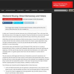 Weekend Musing: Direct Democracy and Voters - macrobusiness.com.au | macrobusiness.com.au