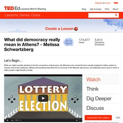 What did democracy really mean in Athens? - Melissa Schwartzberg