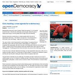 Civic hacking: a new agenda for e-democracy
