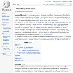 Democracy promotion - Wikipedia