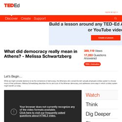 What did democracy really mean in Athens? - Melissa