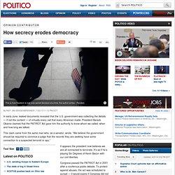 Opinion: How secrecy erodes democracy - Rep. Jim Sensenbrenner